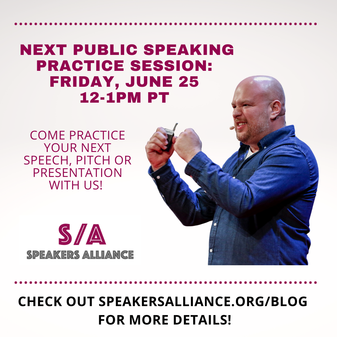Speakers Alliance Practice Session Promo