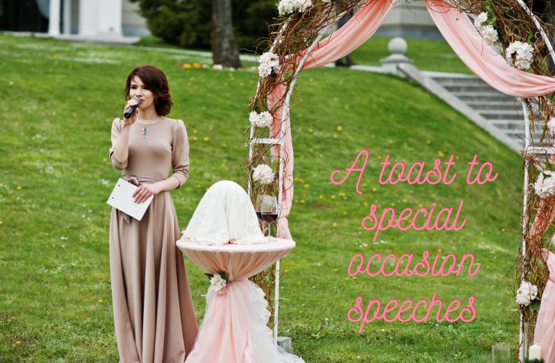 bridesmaid speaking at wedding